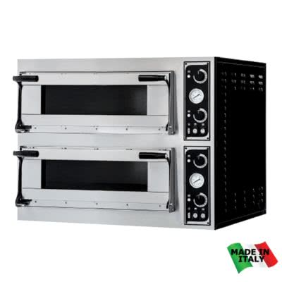 TP-2 Pizza Ovens Double – 400;V 3~N; 13.8kW – Pizza Capacity: 12 x 30cm or 8 x 40cm