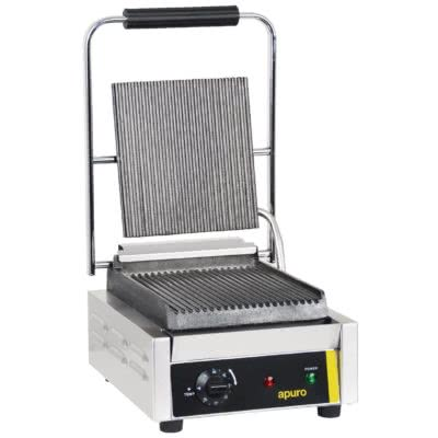 Apuro Bistro Single Contact Grill Ribbed Plates – 1.5kW. 6.5A