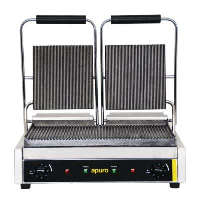 Double Contact Grill Ribbed Plates