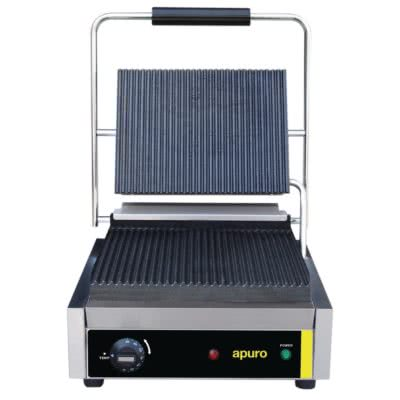 Apuro Bistro Contact Grill Ribbed Plates – 2.2kW. 8.7A; 230V