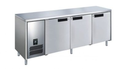 GLACIAN – Slimline 660mm Deep 4 Door S/S Under bench Fridge