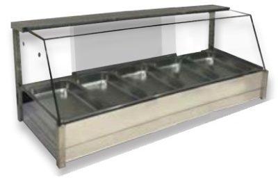 BM17TD Angled Countertop Heated Bain Marie 10 × 1/2 size pans – Double Row 15amp