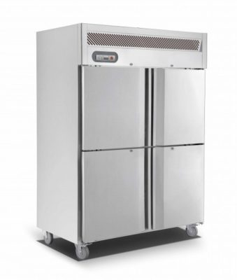 Upright Double Split Door S/S Freezer