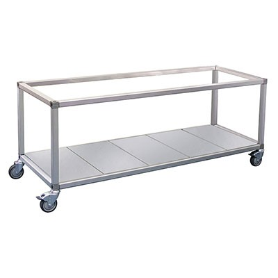 Roband Trolley Food Bar and Bain Marie, 6 x 1/2 size pans