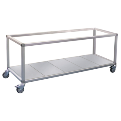 Roband Trolley Food Bar and Bain Marie, 10 x 1/2 size pans