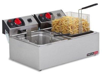 Fryer Deep Fat Double Pan – 2 x 2.4kW