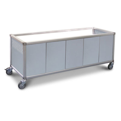 "Roband Trolley stainless steel panels to suit ""ET24"" trolley – 8 x 1/2 pans"