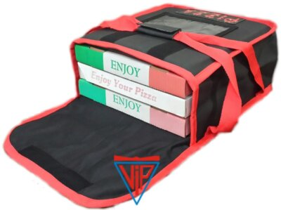 VIP 'Heat Retention' Technology 'No Sweat' Pizza Delivery Bag Fits: 4 x 11inch Boxes or 3 x 13inch Boxes