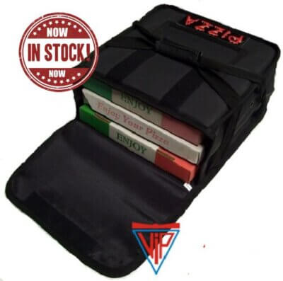 VIP 'Heat Retention' Technology 'No Sweat' Pizza Delivery Bag Fits: 3 x 15inch Boxes or 4 x 13inch Boxes