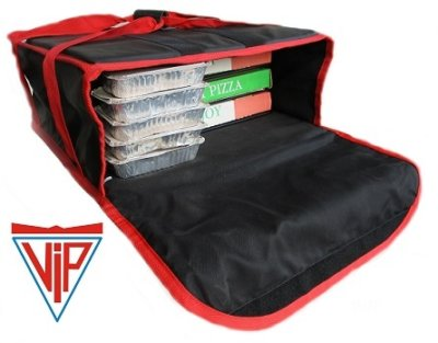 VIP 'Heat Retention' Technology 'No Sweat' Pizza Delivery Bag Fits: 4 x 18inch Boxes or 5 x 15inch Boxes or 6 x 13inch Boxes
