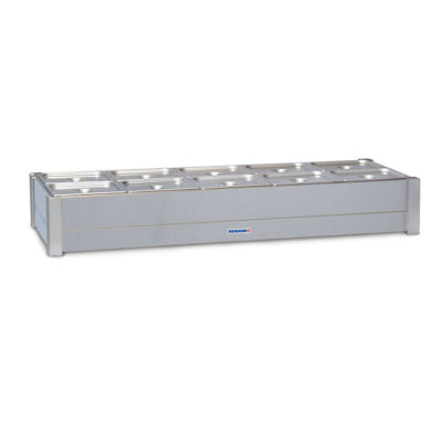 Roband Hot Bain Marie 10 x 1/2 size, pans not included, double row