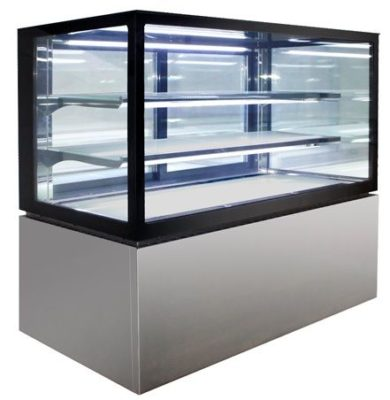 Square Glass 3 Tier Hot Display 900mm – 285lt