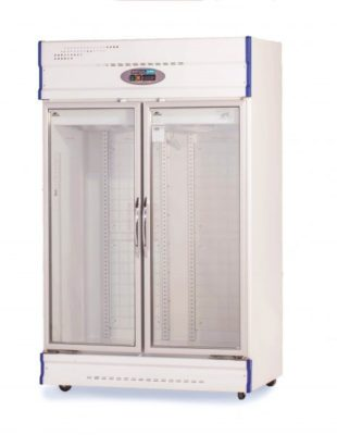 Double Glass Door Upright Display Freezer – 1000Lt