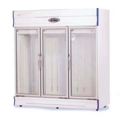 Three Glass Door Upright Display Fridge – 1610Lt
