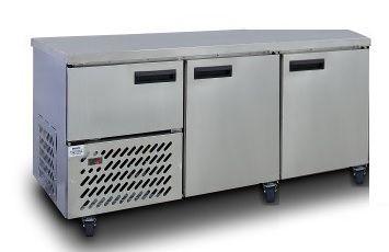 Stainless Steel Slimline Under Bar (2 1/2 St/Steel Doors) 1800mm 480lt