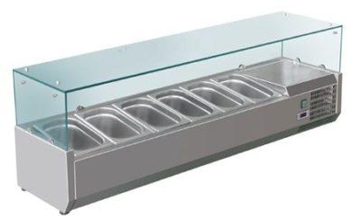 VRX1500/380 Deluxe Prep Top | 5 × 1/3 + 1 × 1/2 Pans