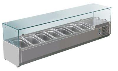 VRX1800/380 Deluxe Prep Top | 8 × 1/3 Pans