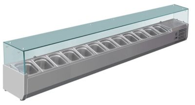 VRX2500/380  DELUXE PREP TOP  | 12 × 1/3 Pans