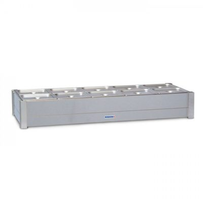 Roband Hot Bain Marie 4 x 1/2 size, pans not included, double row