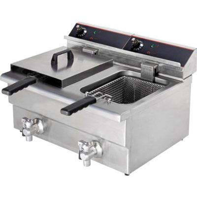 BEF-172V 15 Amp Double Benchtop Electric Fryer