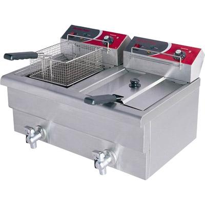 EF-S7.52 10 Amp Double Benchtop Electric Fryer