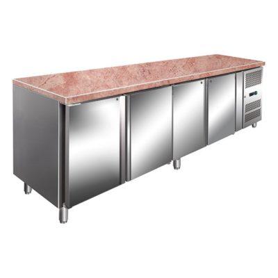 FPA2500TN Four Door Marble Top Bench Fridge 814L