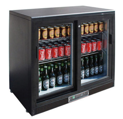 SC248SD Double Sliding Door Drink Cooler