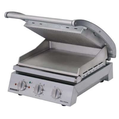 Roband Grill Station 6 slice, ribbed top plate – 2.2kw; 9.6amp