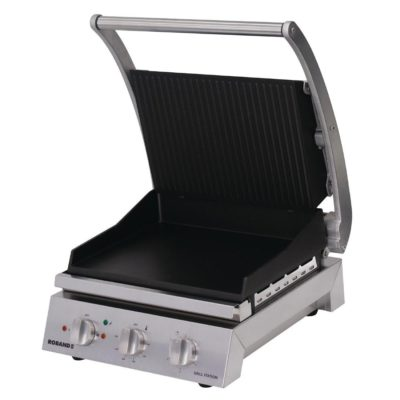 Roband Grill Station 6 slice, non stick with ribbed top plate