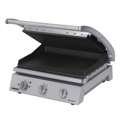 Roband Grill Station 8 slice, non stick with ribbed top plate- 2.99kw; 13amp