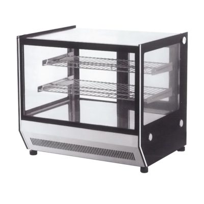 Counter top square 2 Shelves Glass cold food display – GN-1200RT