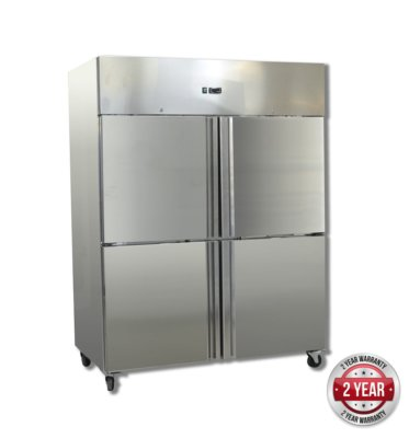 GN1200BTM GRAND ULTRA Four 2/1 S/S door upright Freezer 1200L