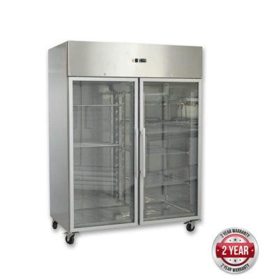 GN1410BTG GRAND ULTRA Double Glass Door Upright Freezer 1470L