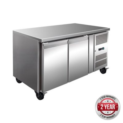 GN2100TN TROPICALISED 2 Door Gastronorm Bench Fridge