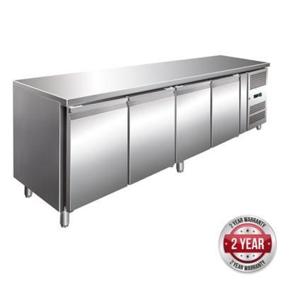 GN4100TN TROPICALISED 4 Door Gastronorm Bench Fridge