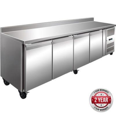 GN4200TN TROPICALISED 4 Door Gastronorm Bench Fridge with Splashback