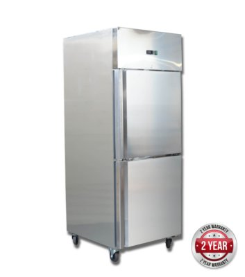 GN650TNM GRAND ULTRA Double 1/2 S/S Door Upright Fridge 685L