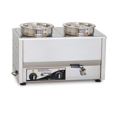 Roband Counter Top Bain Marie 2 x 200mm round pots