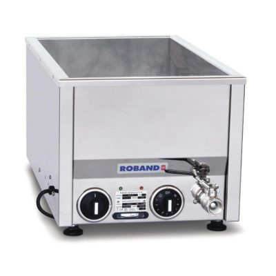 Roband Counter Top Bain Marie narrow with thermostat 2 x 1/2 size, pans not included