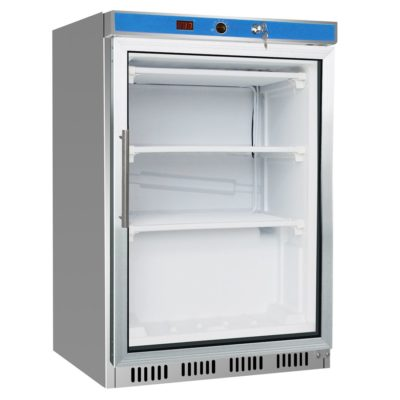 HF200G S/S Display Freezer with Glass Door