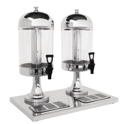 Double Juice Dispenser with Drip Tray