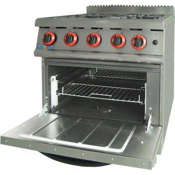 JZH-RP-4 GASMAX Natural Gas Four Burner Top On Oven with Flame Failure