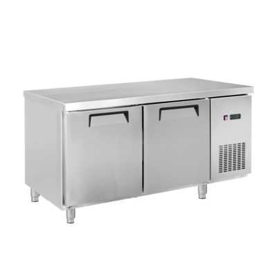 LDWB180C Two Large Door Stainless Steel Workbench Fridge