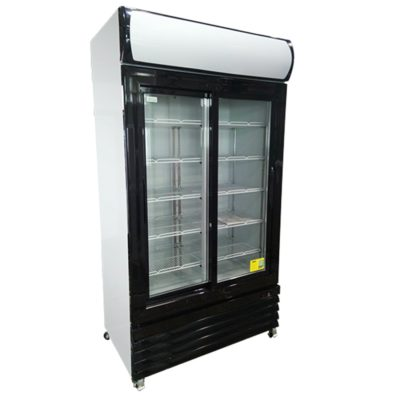 LG-1000BG Large Two Glass Door Colourbond Upright Drink Fridge – Black