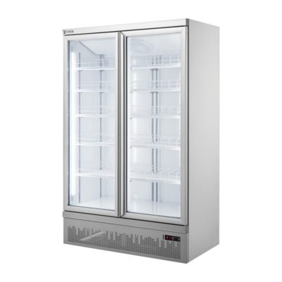 Double glass door colourbond upright drink fridge bottom mounted – LG-1000GBM