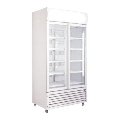 LG-1000GTH Large Double Glass Door Upright Display Fridge