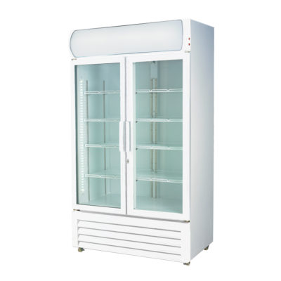 LG-1200GE Large Two Glass Door Colourbond Upright Drink Fridge