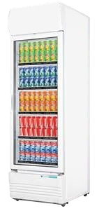 Single glass door colourbond upright drink fridge  – LG-320GE