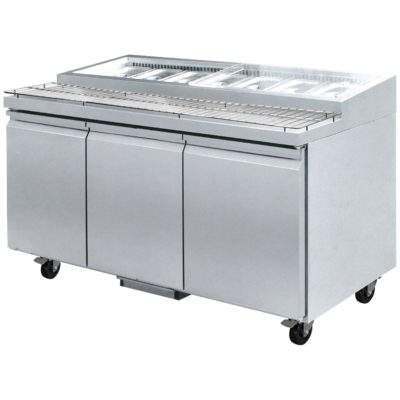 PWB150 three door DELUXE Pizza Prep Bench