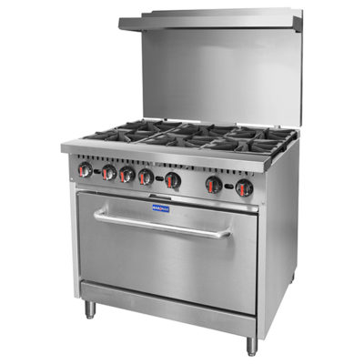 S36(T) – Gasmax 6 Burner with Oven Flame Failure